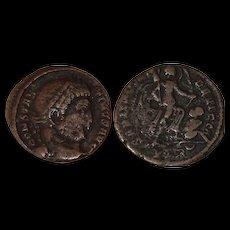 Ancient Roman Coin  Billon Centenionalis - 323 - 324 A.D. - Constantine's victory in the Sarmatian war