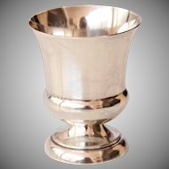 Judaica Sterling Silver Kiddush Cup by Watrous MFG Co Connecticut