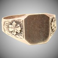 Vintage Sterling Silver Signet Ring From Spain - not engraved