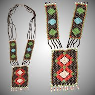 Handmade Native American Bead Necklace - Beadwork Jewelry in Southwestern Design