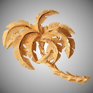 Vintage Gold Tone Palm Pin Brooch