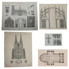 19th Century Set of two Prints of the Cathedral of Cologne - 1879 Architectural Steel Engraving