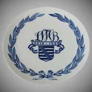 """Meissen Military Regiment Plate Saxon Battalion """"Sächsisches Bataillon"""" 1918-1934 Reservist Memorial Plate"""