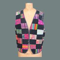 Vintage Patchwork Ikat Vest