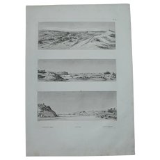 "Antique Print of Views of the Nile, Elephantine and Aswan - Original Copper Engraving from ""Napoleons Travels to Egypt"" (Vivant Denon) 1802"