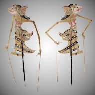 1900's Century Original Indonesian Leather Shadow Puppet - Wayang