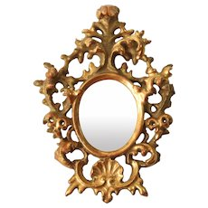 Exceptional 18th Century Rococo Mirror - Late Baroque Wood Carved Gilt Frame