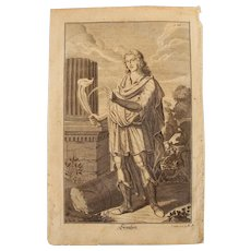 Rare 1701 Copper Engraving of Samson from the Old Testament by Engelhardt Nunzer