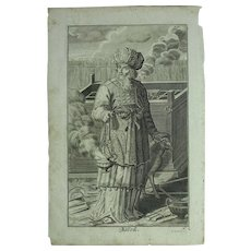 Rare 1701 Copper Engraving of Aaron from the Old Testament by Engelhardt Nunzer