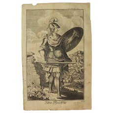 Rare 1701 Copper Engraving of Saint John the Baptist by Engelhardt Nunzer