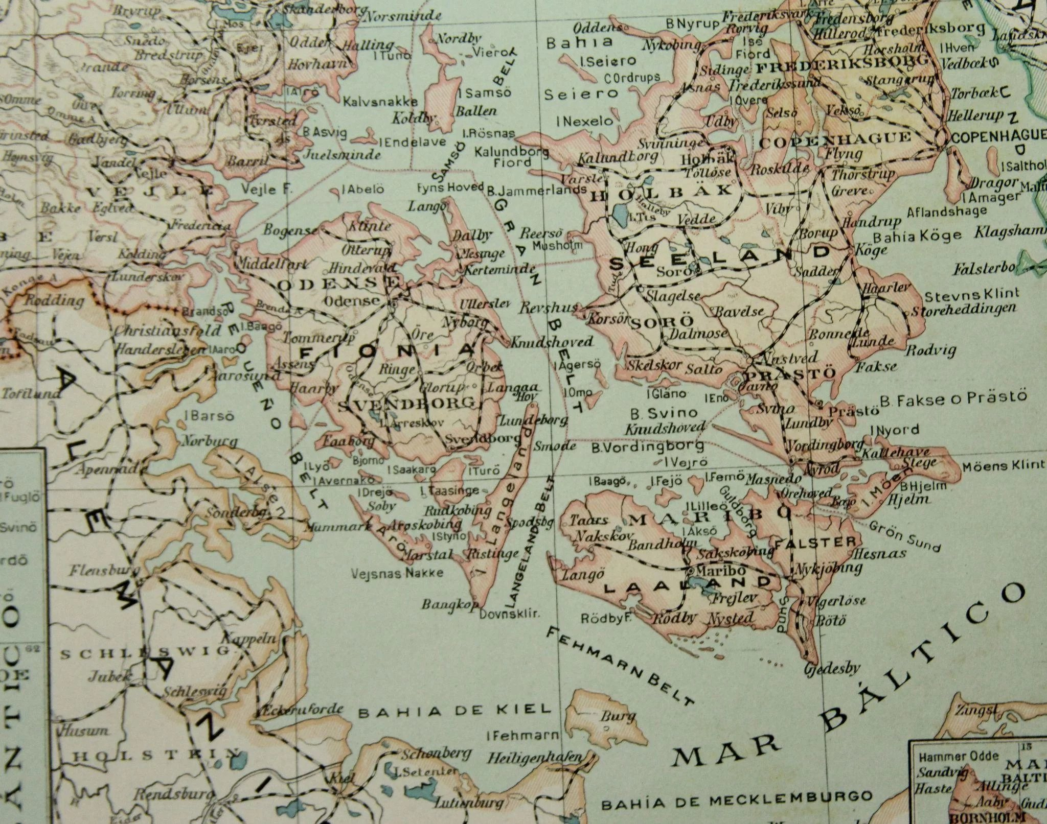 Art nouveau map of denmark with military uniforms coins and flag click to expand gumiabroncs Images