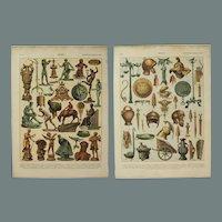 Art Nouveau Print of Bronze Art & Objects - 1900's Polychrome Lithograph