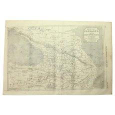 1854 Original Map of the Caucasus - Antique Steel Engraving