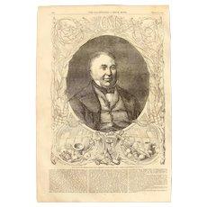 1854 Original Portrait of Sir Charles Napier - Antique Steel Engraving