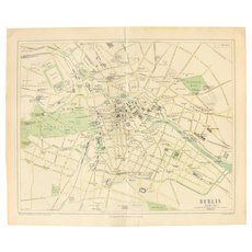 19th Century Map of Berlin - 1870's Steel Engraving