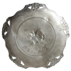 Art Nouveau Orivit Candy Dish Plate with stunning floral Designs and Lady