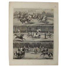 1850's Original Antique Print of Horse Shows - Steel Engraving