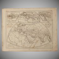 1850's Original Antique Maps of the Ancient World - Steel Engraving