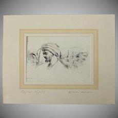 1802 Anthropological Copper Engraving from Napoleons Travels to Egypt (Vivant Denon)