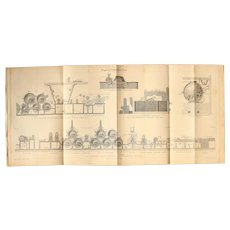 19th Century Print about Paper Production - 1870's Technical Steel Engraving