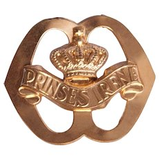 WW2 Original Cap badge of the Garderegiment Fuseliers Prinses Irene - Netherlands
