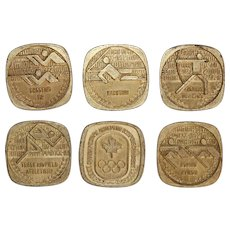 Set of six Coins for the Canadian Olympic Team for the Olympic Games in Munich 1972
