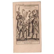 1717 Copper Engraving of Cafres & the people of Congo and Mutapa - 18th Century Ethnographic Print
