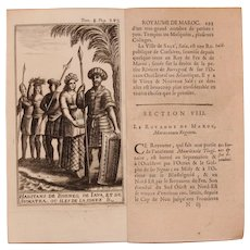 1717 Copper Engraving of the people Borneo, Sumatra and Java- 18th Century Ethnographic Print