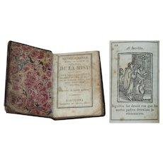 1821 Miniature Prayer Book - Meditaciones para el santo sacrificio de la Misa - Antonio Brusi