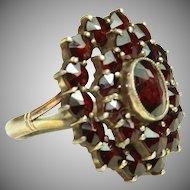 Bohemian Garnet Ring - Early 20th Century