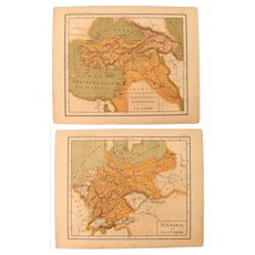 1900 Maps of Germany and Turkey - Polychrome Lithograph