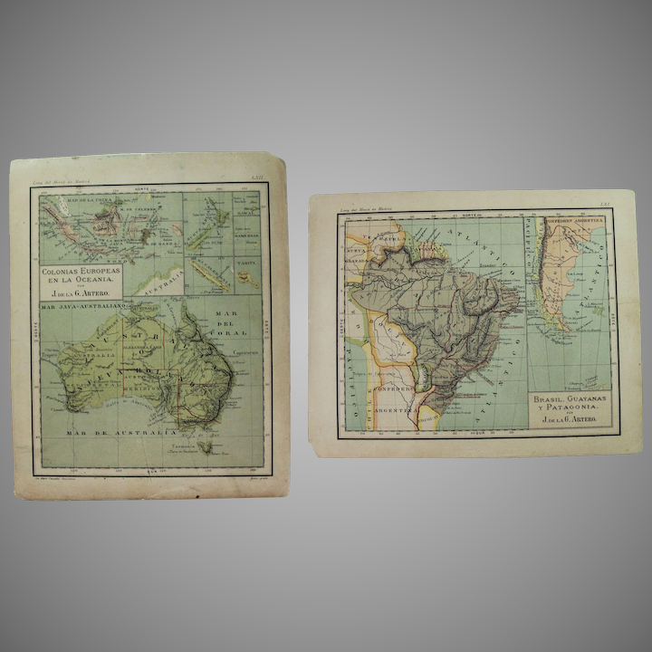 Map Of Southeast Asia Australia And New Zealand.1900 Maps Of Australia New Zealand Southeast Asia Brazil Chile