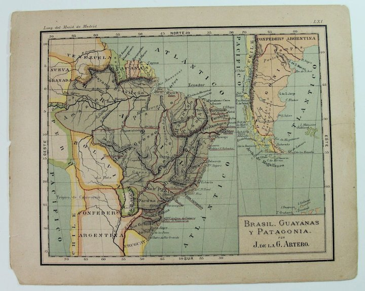 Map Of Southeast Asia Australia And New Zealand.1900 Maps Of Australia New Zealand Southeast Asia Brazil Chile Argentinia More Polychrome Lithograph
