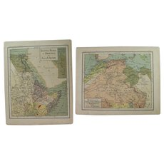 1900 Maps of Northern Africa and Egypt and Arabia - Polychrome Lithograph