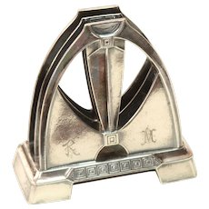 Rare Art Deco WMF Desk Organizer - Silver plated Envelope Stand from circa 1918