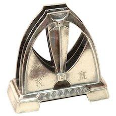 Rare Art Deco WMF Desk Organizer - Silver plated Envelope Stand from circa 1918
