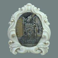 "1900's Italian Art Nouveau Gran Tour Souvenir of ""Our Lady of Montevergine"" - Madoona with Jesus Child"