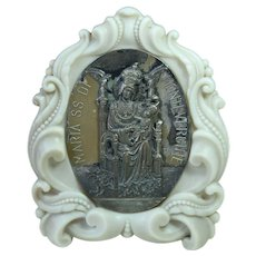"1900's Italian Art Nouveau Gran Tour Souvenir of ""Our Lady of Montevergine"" - Madoona with Jesus Child"