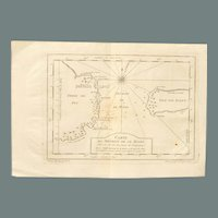 18th Century Map / Sea Chart of Le Maire Strait South America - 1753 by Jacques-Nicolas Bellin