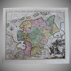 Rare antique Map of East Frisia / Friesland (Allard, Carel: circa 1697)