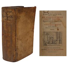 "17th Century German Philosophy First Edition Book ""De Cognitione Dei et Nostri"" by Johannes CLAUBERG"