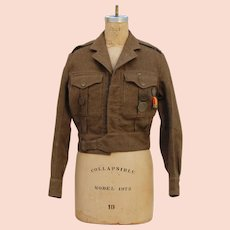 Authentic 1949 British Battledress Blouse including Medals and Pin