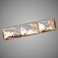 Handmade 835 Silver Brooch - Vintage Artisan Silver Brooch