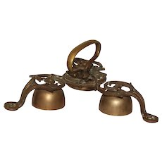 Early 19th Century Bronze Altar / Sacristy / Sanctus Bells - Late Rococo Bells with beautiful Pattern
