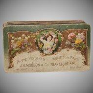 Original Art Nouveau Box - Antique Container for Sweet Violet Perfume