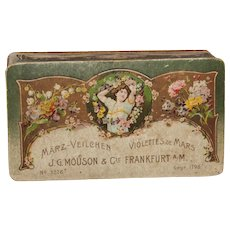 Original Art Nouveau Box - Antique Container for Sweet Violet Perfume