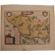 17th Century Map of Ruppin & Prignitz in Brandenburg (Pieter Schenk)