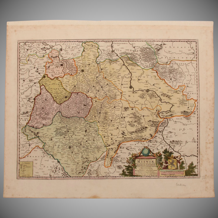 Baroque Map Of Saxony Germany By P Mortier In Circa 1700 Vianova