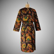 Vintage Satin Wiggle Dress and Cropped Jacket ****2 Piece Set