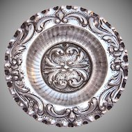 Catalan Modernisme Sterling Silver Ashtray / Spanish Second Baroque Silver Plate